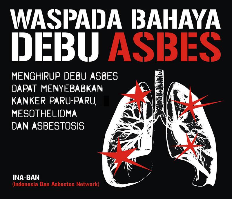 Waspada Bahaya Debu Asbes - black