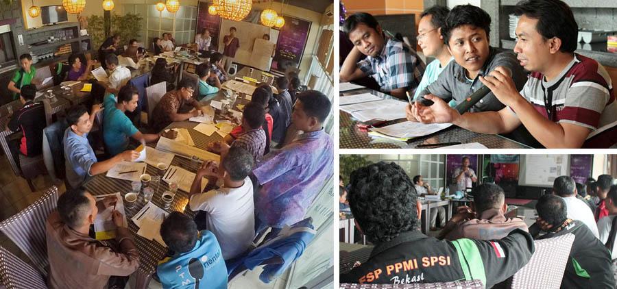Laporan Kegiatan - Latihan Pengenalan K3 (Keselamatan dan Kesehatan Kerja) Occupational Safety and Health (OSH)  PC SPSI PPMI Cabang Bekasi bekerja sama dengan LION Indonesia.
