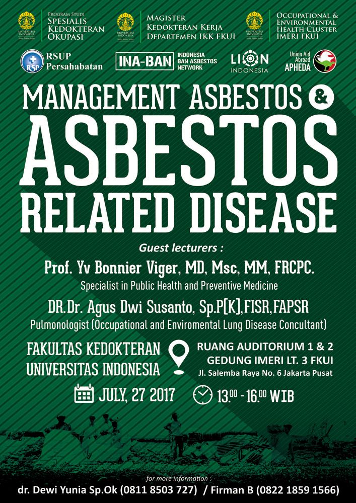 Poster Kuliah Umum Management Asbestos & asbestos