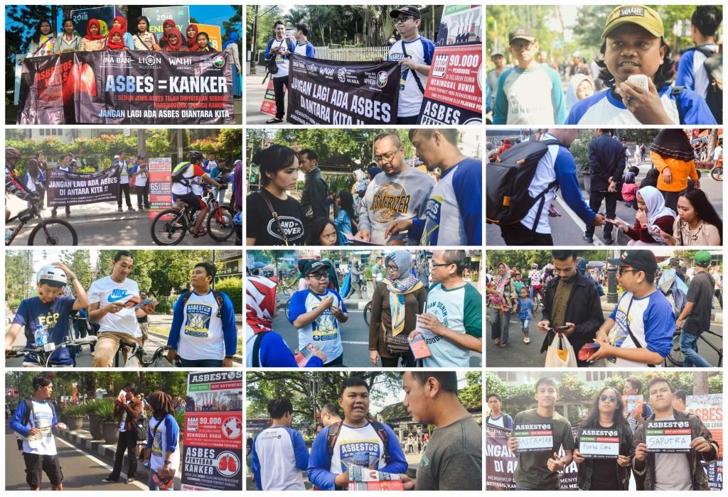 Kampanye Bahaya Asbes - Car Free Day - Dago Bandung (24 -12 - 2017)