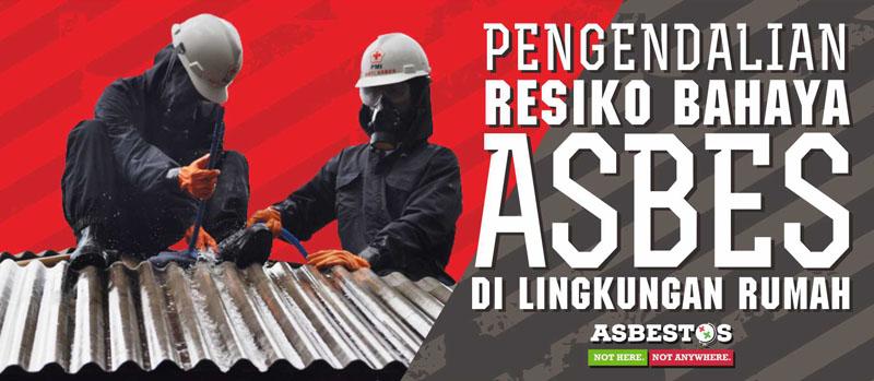Flyer Pengendalian bahaya Asbes di Lingkungan Rumah
