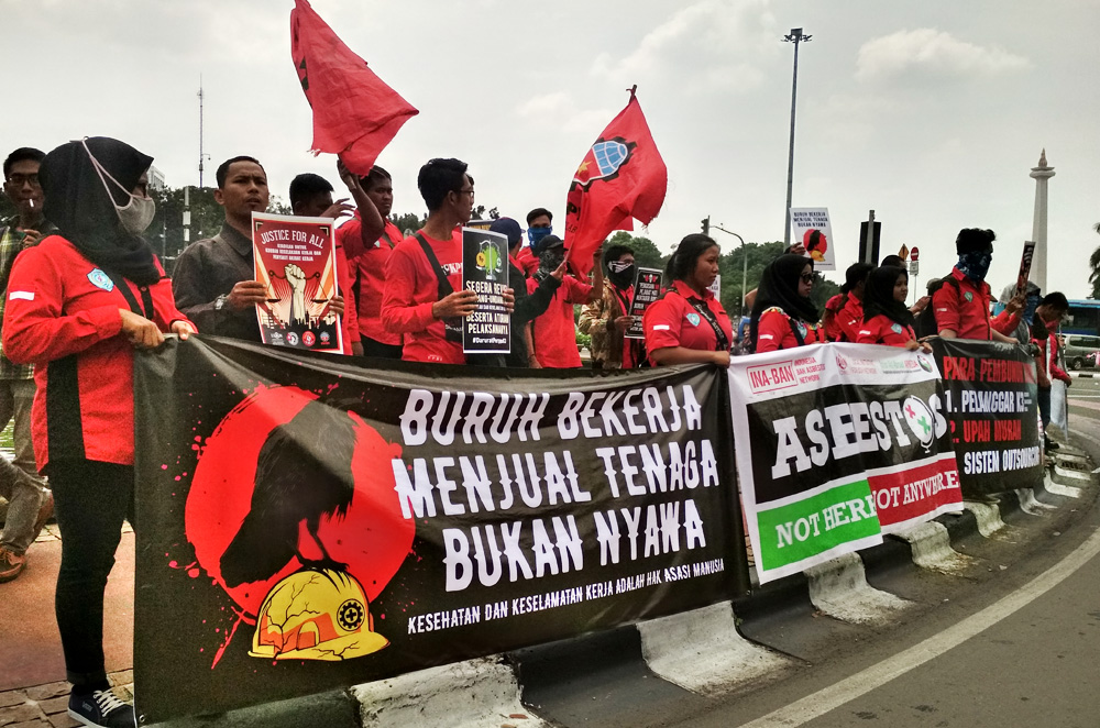 Aksi IWMD (International Workers Memorial Day) Jakarta 2018